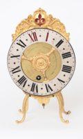 Swiss-Bern-brass-gilt-night-antique-clock-vielleuse-verge-Blaser-ormolu-night Clock