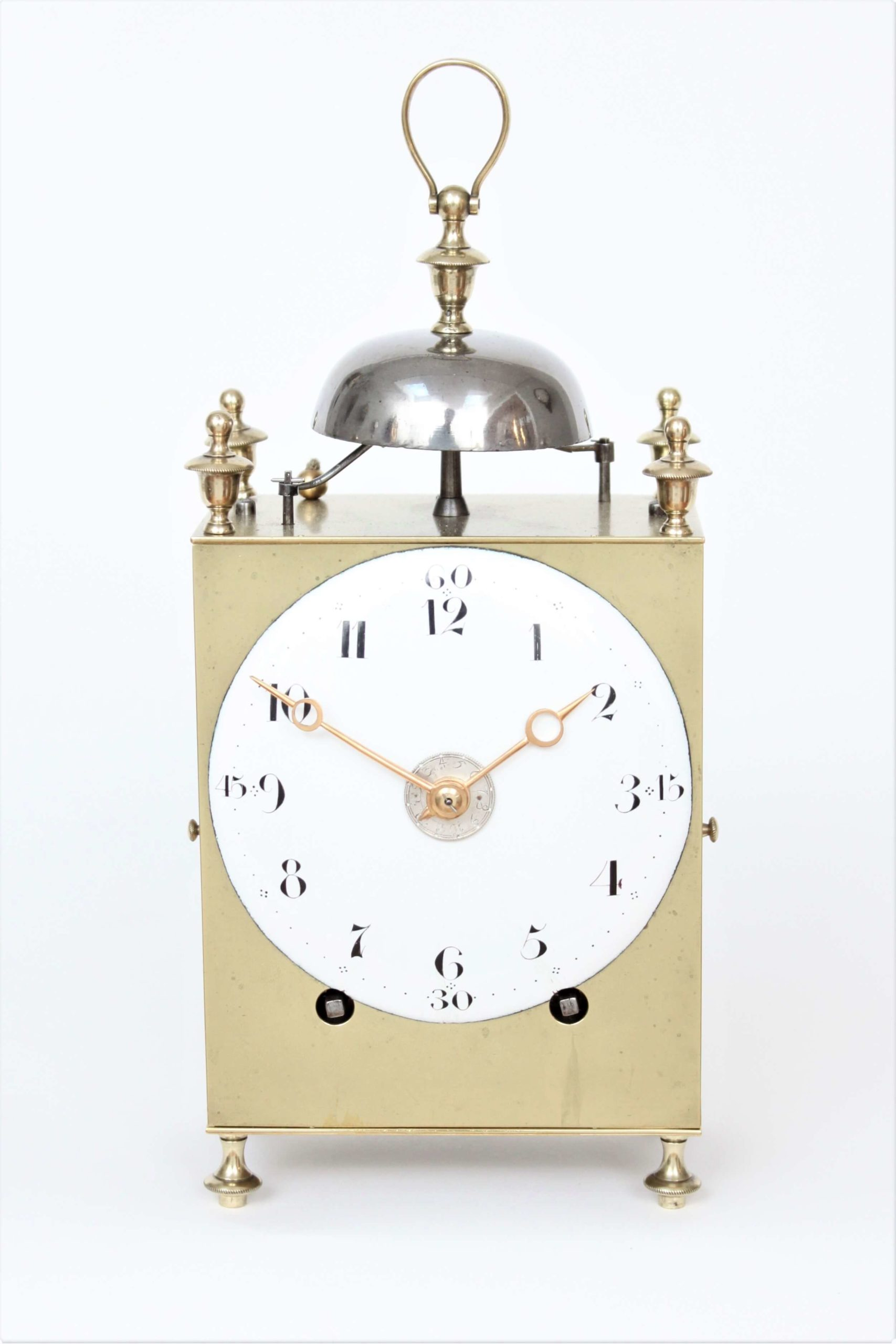 Swiss-brass-striking-repeating-antique-travel-capucine-chaux De Fonds-clock-timepiece-10
