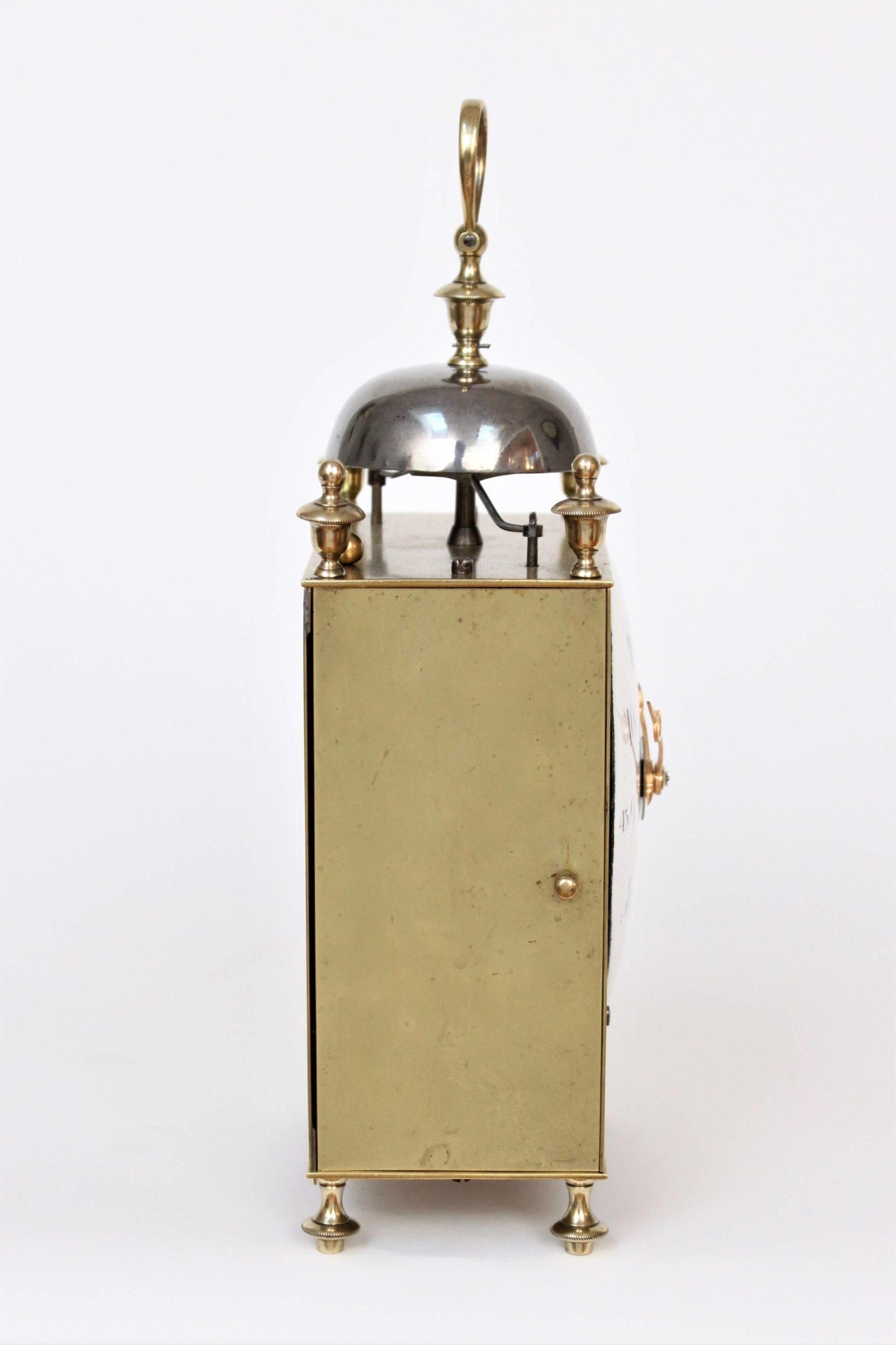 Swiss-brass-striking-repeating-antique-travel-capucine-chaux De Fonds-clock-timepiece-