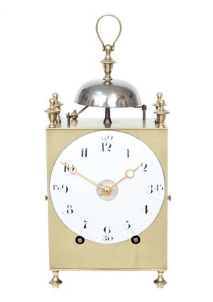 Swiss-brass-striking-repeating-antique-travel-capucine-chaux De Fonds-clock-timepiece-10