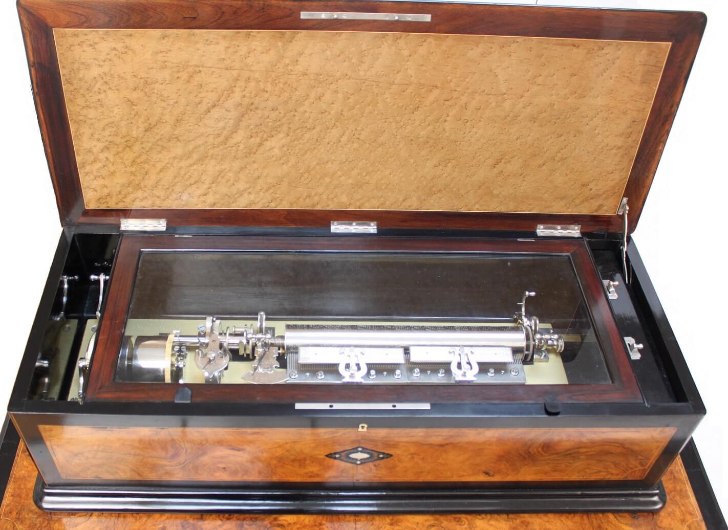 swiss-cylinder-music-box-interchangeable-walnut-rosewood-allard-geneva-table-musical-music-mechanical-antique-victorian