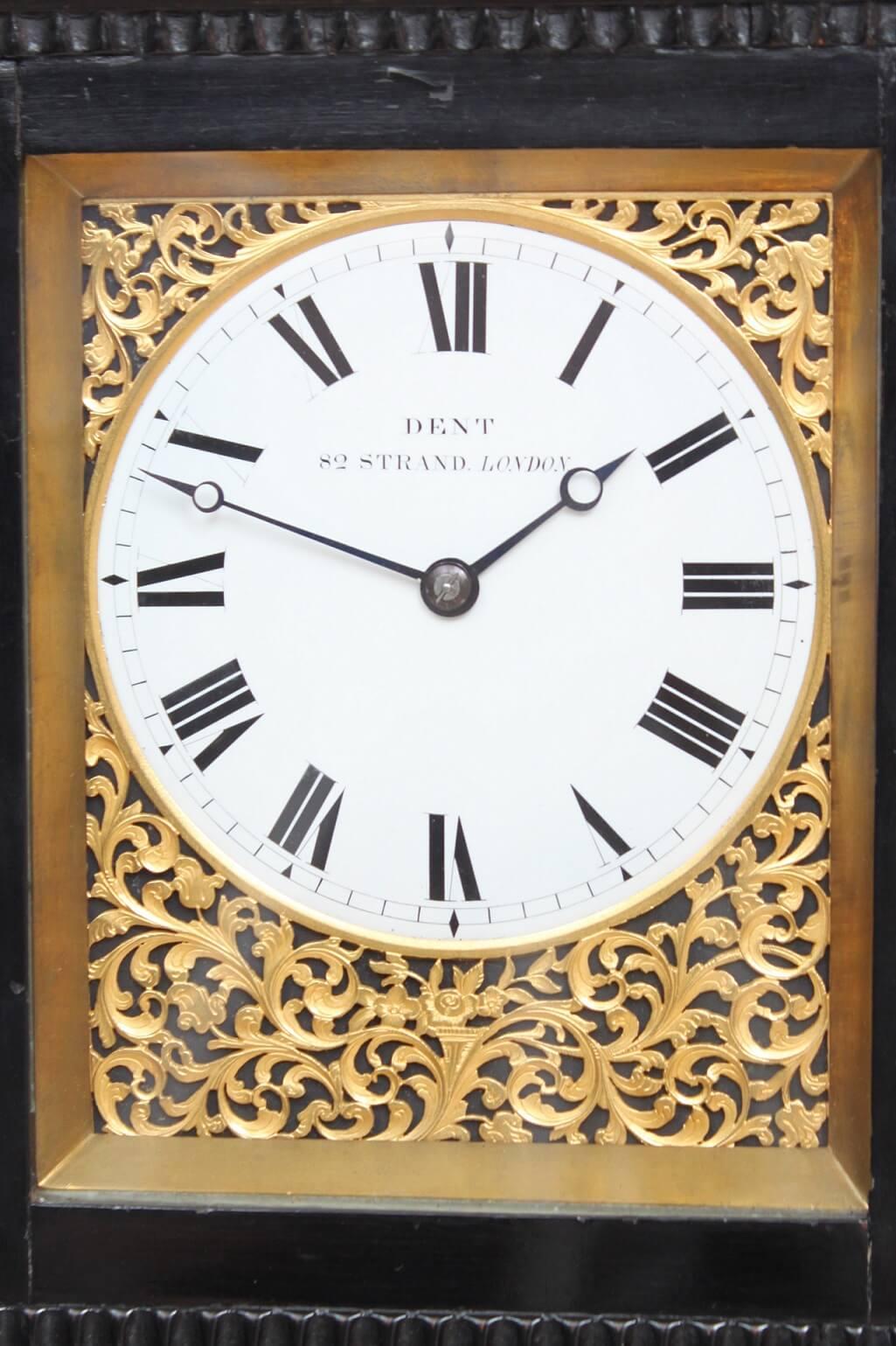 English-Edward-John-Dent-London-the Strand-ebonised-antique-giant-striking-carriage-travel-clock-