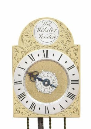 A Rare And Small English Brass Travel Wall Clock, William Webster London, Circa 1730