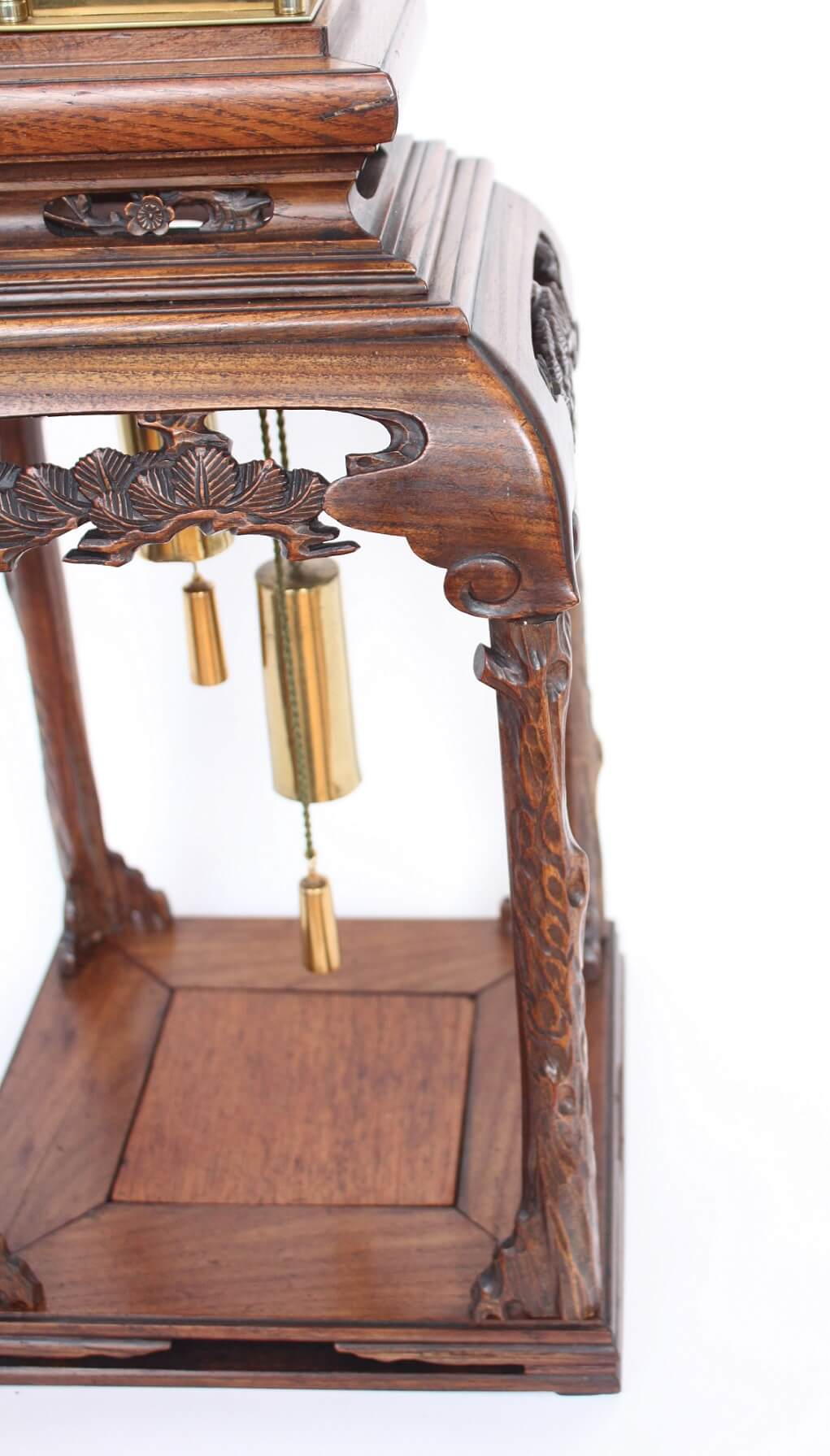 Japan-Japanese-yagura-dokei-lantern-striking-alarm-calendar-antique-stand-antique--clock-
