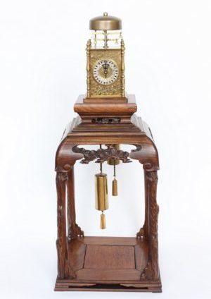 Japan-Japanese-yagura-dokei-lantern-striking-alarm-calendar-antique-stand-antique-clock-