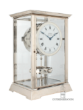 Swiss-French-nickel-art-deco-reutter-patent-atmos-clock-