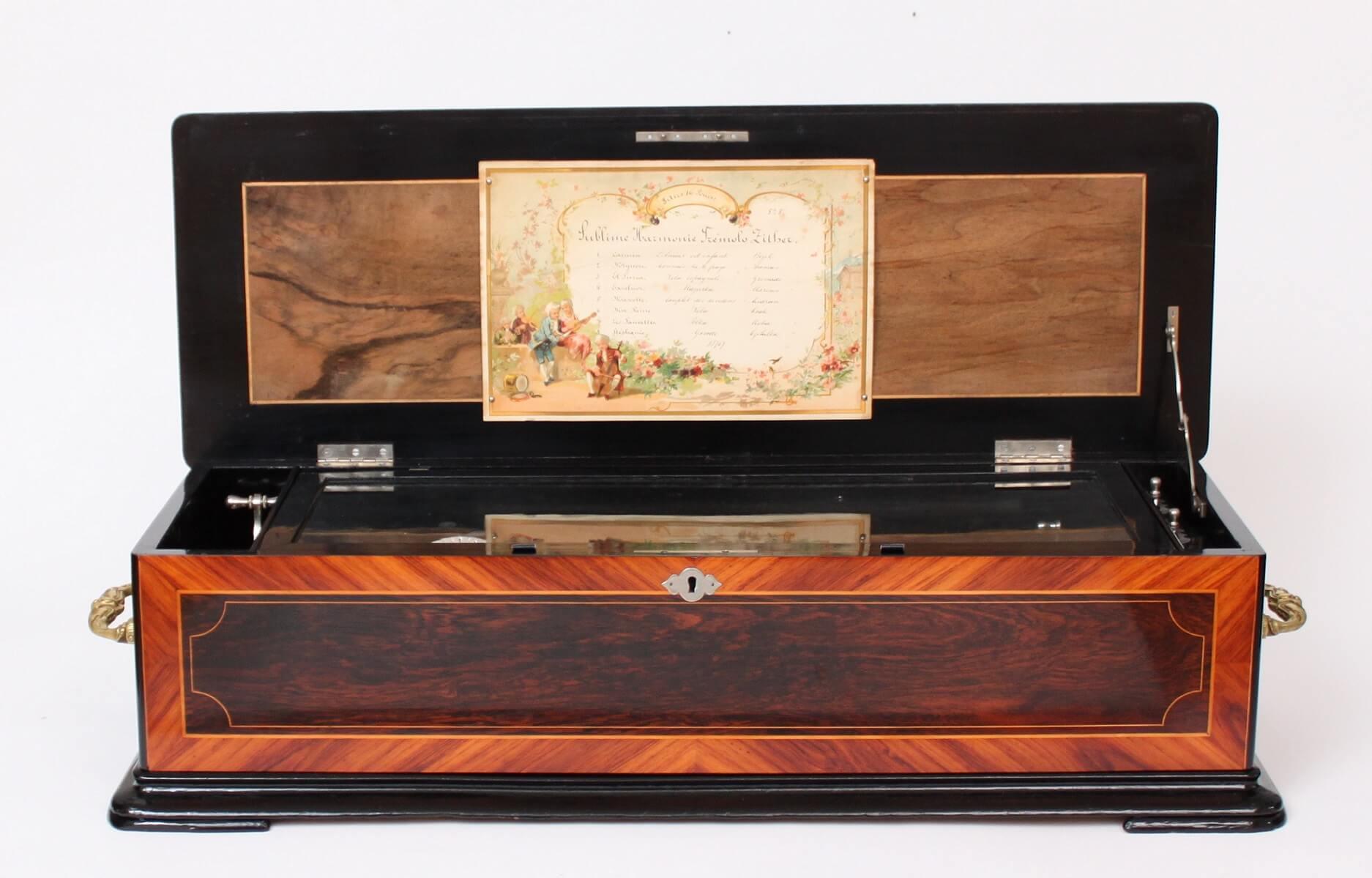 Swiss-Paillard-PVF-Geneva-rosewood-musical-mechanical-music-sublime-harmony-tremolo-zither-cylinder-music-box-