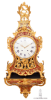 Large-important-Swiss-French-Neuchatel-Louis XVI-corne-rose-marquetry-ormolu-musical-repeating-bracket-wall-clock-Jaquet Droz-Leschot-