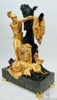 French-Empire-ormolu-patinated-gilt-bronze-Jason-golden-fleece-mantel-clock-Feuchere-antique-clock-
