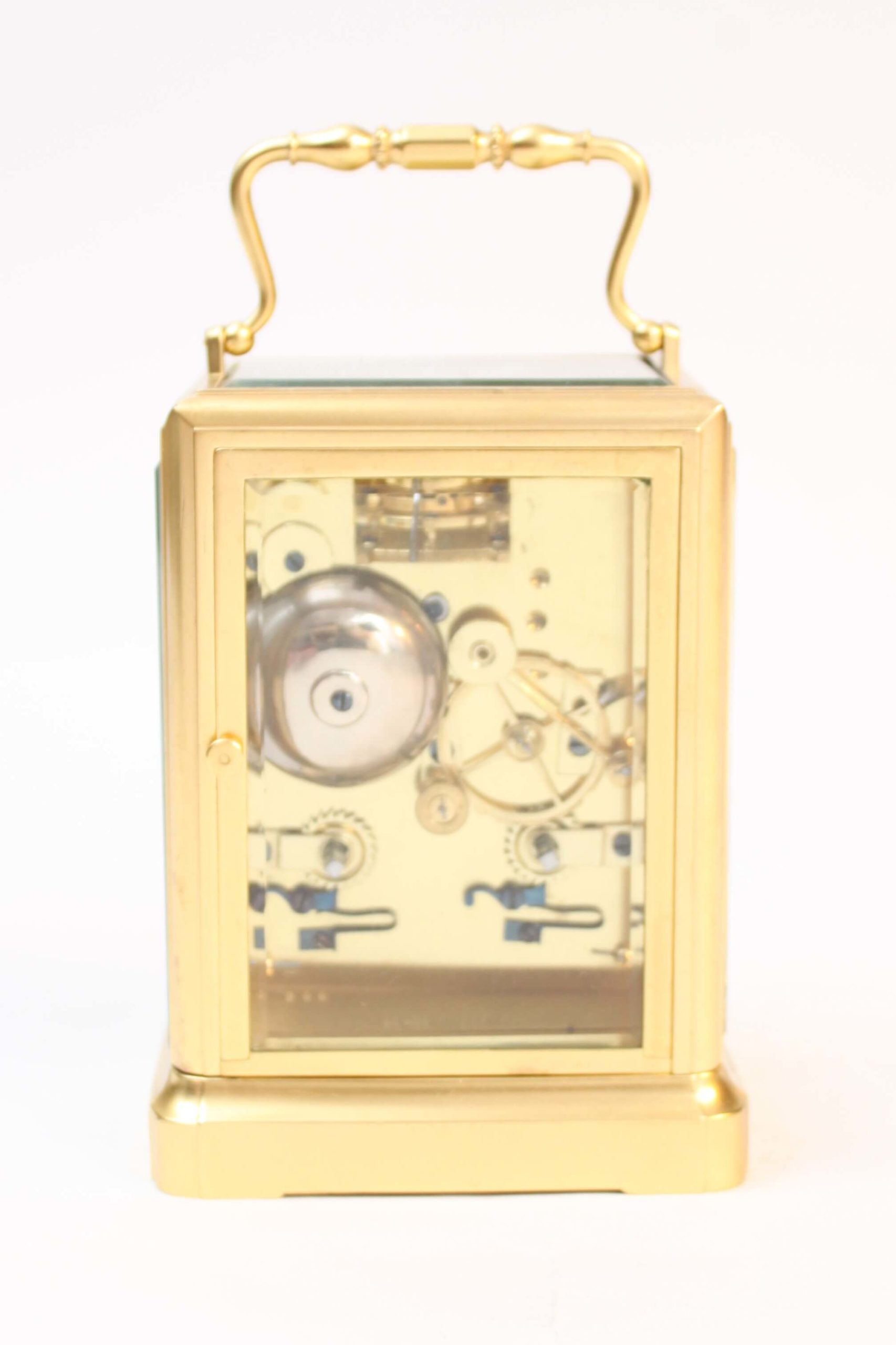 French-one-piece-brass-antique-carriage-travel-clock-jules-paris-escapement-