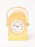 Miniature-French-arched-antique-travel-boudoir-gilt-brass-arched-carriage-clock-Margaine-Paris