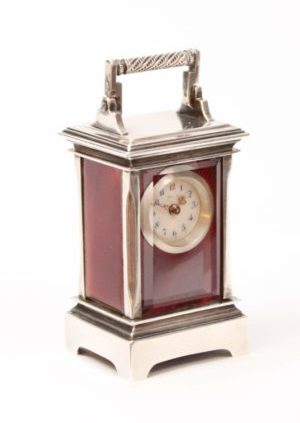 miniature-Swiss-silver-guilloche-translucent-enamel-travel-carriage-clock-sub miniature-