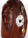 French-miniature-carved-walnut-Neuburger-Paris-sculptural-zappler-antique-collectable-clock-