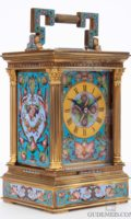 French-gilt-brass-anglaise-case-cloisonne-enamel-striking-antique-carriage-travel-clock-