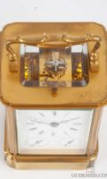 French-gilt-brass-corniche-case-quarter-striking-alarm-date-antique-carriage-clock-bourdin-