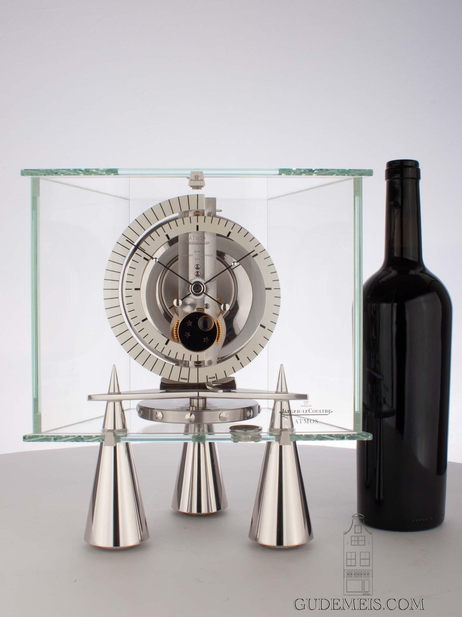 Swiss-rhodium-atmos-atlantis-moonphase-Jaeger-Lecoultre-glass-antique-clock-