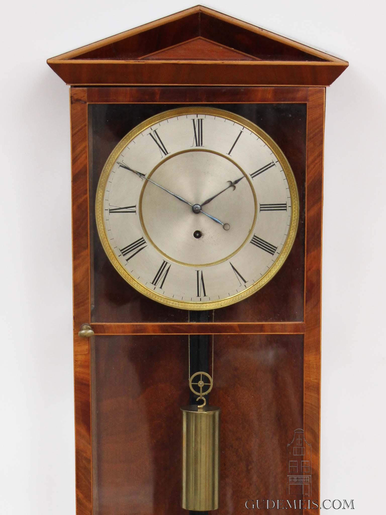 Austrian-Vienna-wien-mahogany-precision-dachluhr-regulator-antique-wall-clock