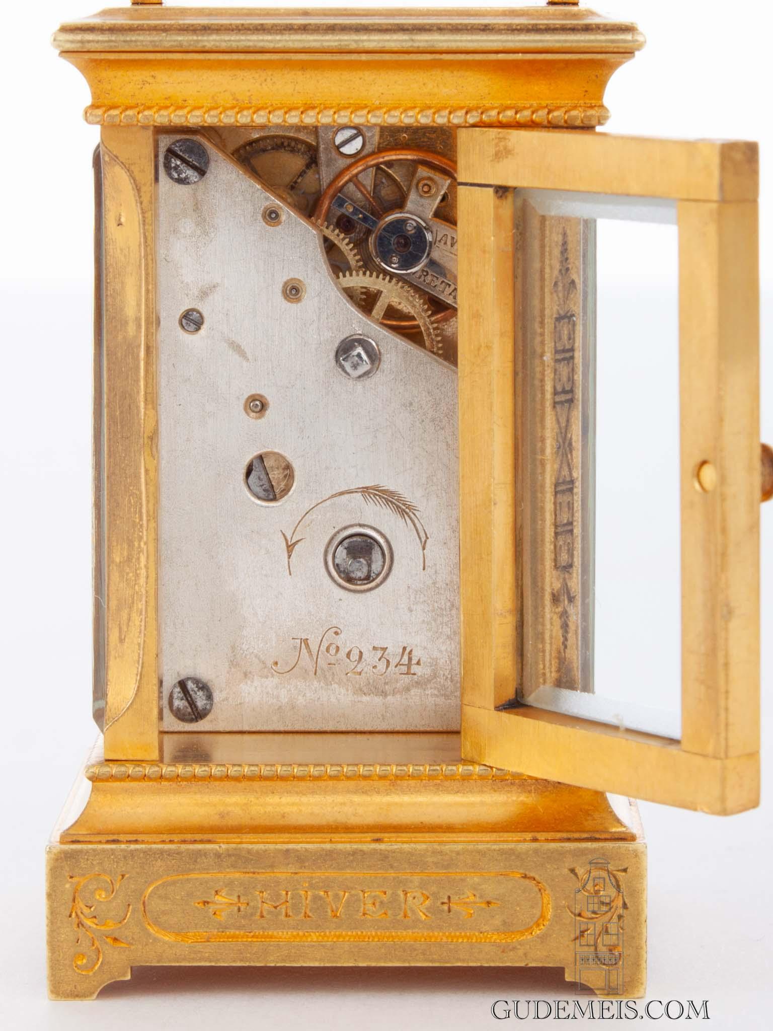 miniature-Swiss-gilt-brass-anglaise-case-polychrome-enamel-gilt-brass-antique-travel-carriage-clock-enamel-dial-