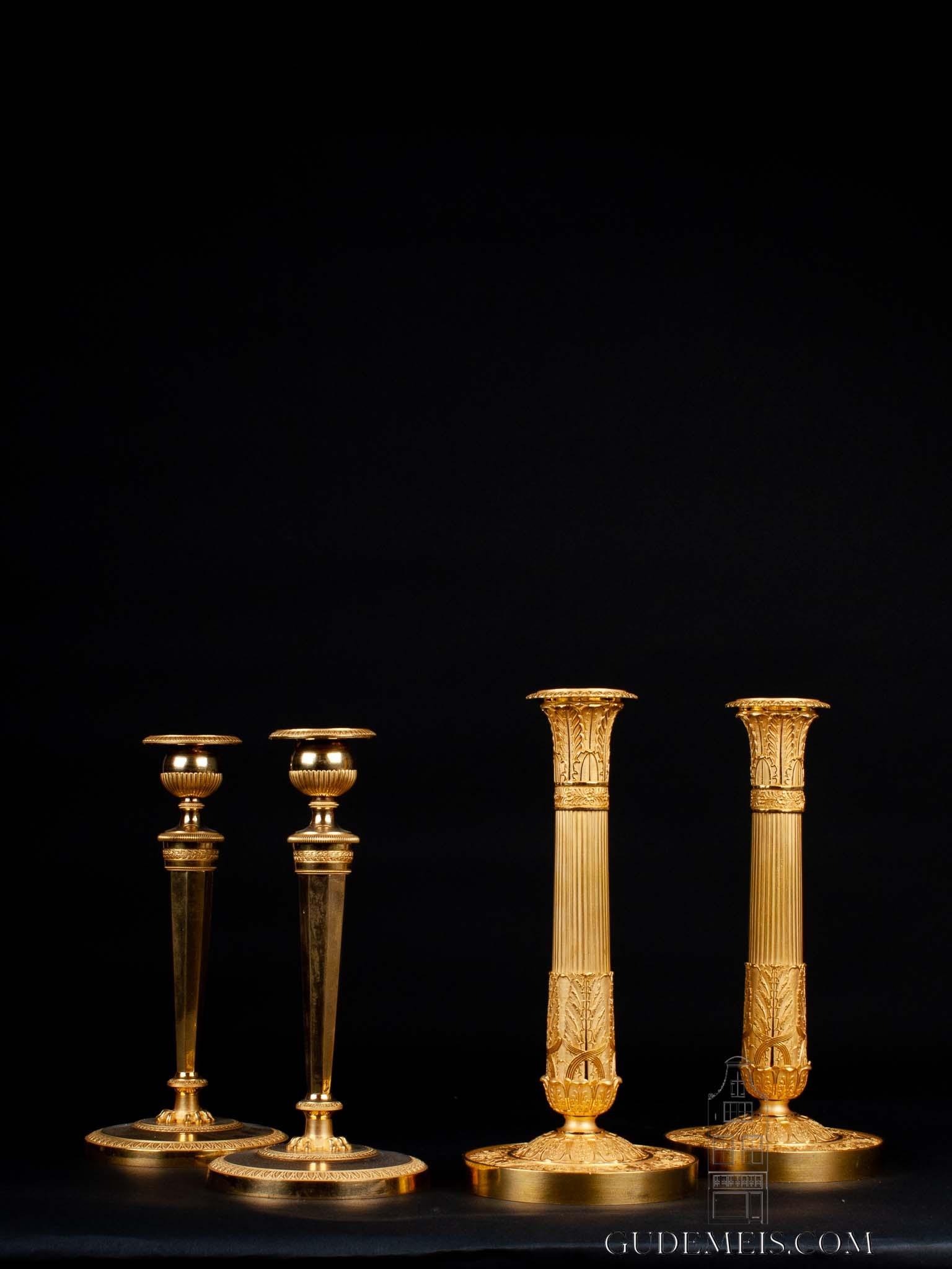 French-Empire-acanthus-ormolu-gilt-bronze-candle-stick-candelabra-Paris
